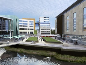 Huddersfield Waterfront Quarter underway