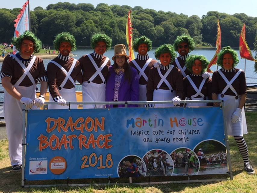 Linley & Simpson retain the crown for 'best dressed' at the Martin House Dragon Boat race 2018