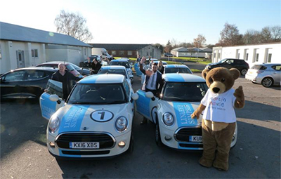 Linley & Simpson prove the wheel deal as Mini convoy raises major amount for Yorkshire hospice