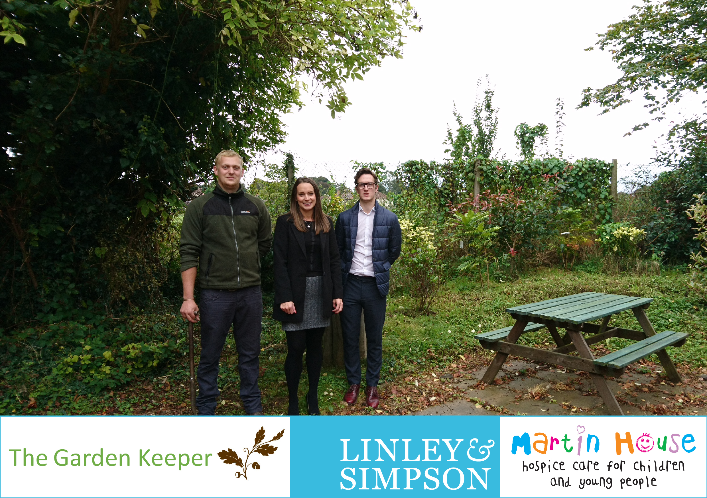Businesses Link Up To Dig Deep For Yorkshire Hospice - And Create New Wildlife Garden