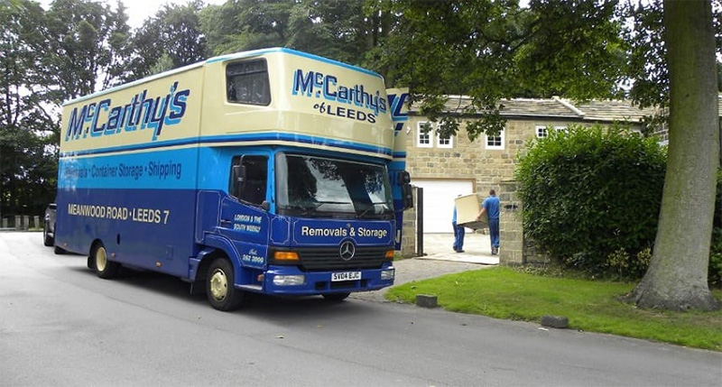Photo of McCarthy's removal van