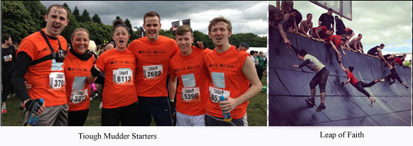 Linley & Simpson Team for the Tough Mudder Challenge