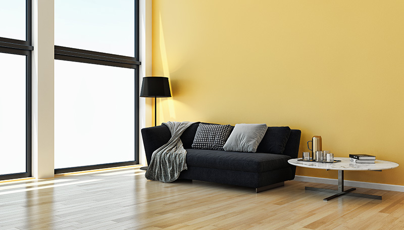 Photo of sofa in a living room
